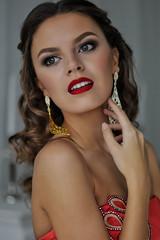 Christmas happiness (anastasiiarusakova) Tags: christmas new woman color cute art girl smile studio gold nice model nikon colorful gorgeous style diamond emotions colorimage