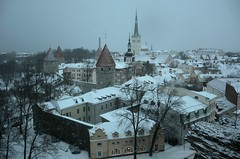 Kui Tallinnas sajab lund ... (anuwintschalek) Tags: schnee winter snow tallinn estonia towers january spire snowfall lumi altstadt oldtown trme eesti stadtmauer estland talv vanalinn toompea 2016 kirchturm schneefall townwall oleviste aussichtsplattform patkuli d7k linnamr tornid vaateplatvorm lumesadu kirikutorn nikond7000 sightseeingpoint churchtowe 18140vr