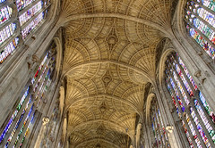 Kings College Chapel Ceiling (Raphooey) Tags: uk windows cambridge england college window glass canon eos university arch columns barrel chapel arches carving ceiling carve east stained kings gb column vault colleges ornate carvings anglia vaulting 70d