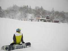 Snowboarder at Asari No. 1 Lift (A. Wee) Tags: japan hokkaido snowboard   asari  kiroro