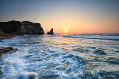 onjuku minami-boso sunrise rock (koshichiba) Tags: blue light sunset sea orange seascape nature rock japan canon landscape eos long exposure magic tide wave explore shore lee  boso  onjuku   ndfilter f4l   bouso onjyuku  5dsr ef1124mm