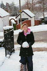 Snowball (bigalid) Tags: winter snow film 35mm nikon january snowball nikkor dumfries 2016 c41 f55 afd 3580mm afnikkor lomography400cn