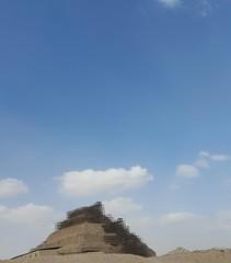 Saqqara Pyramid / outskirts of Cairo, Egypt (Wander Gal) Tags: africa travel vacation pyramid egypt cairo saqqara sakkara 2015