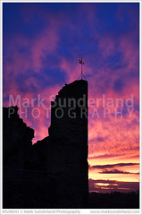 Sunset at Knaresborough Castle ( Mark Sunderland www.marksunderland.com) Tags: uk greatbritain travel pink light sunset red england sky castle heritage history silhouette clouds evening twilight ruins europe britishisles unitedkingdom britain dusk yorkshire ruin gb knaresborough touristattraction pinkclouds northernengland