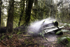 GetawayCar (Basedigital Images (Away...)) Tags: trees abandoned car bc forrest smoke gibsons hdr relic basedigital basedigitalimages