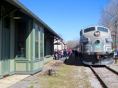 ADIX 1508 On Easter Bunny Express (ironmike9) Tags: railroad station train track rail railway rr locomotive passenger f7 emd adirondackscenicrailroad hollandpatentny