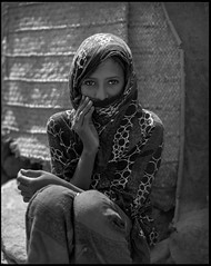 Behind the veil (nahlinse) Tags: travel portrait people woman film iso100 ethiopia afar fujineopanacros