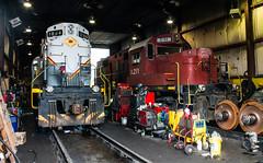 Delaware Lackwanna Shop (Kyle Yunker) Tags: railroad shop train locomotive delaware lackawanna alco rs11 rs32