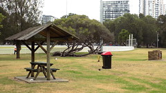 """Barbecue area """"Cahill Park"""" at - Wolli Creek NSW - 2016 (nicephotog) Tags: park urban playing field sport creek garden table picnic seat sydney ibis barbecue nsw recreation oval cahill wicket wolli"""