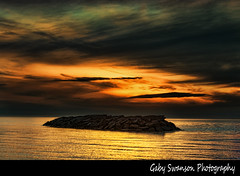 golden (Gaby Swanson, Photographer) Tags: sunset beach nature beauty reflections landscape outdoors peace lakeerie pennsylvania naturephotography colorfulsky lakeeriesunsets palandscape paseascapes