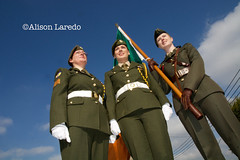 First all-female Colour Party at St Patrick's Day Parade, Castlebar, Mayo, Ireland (alison laredo) Tags: ireland mayo castlebar stpatricksdayparade 2015 allfemalecolourparty