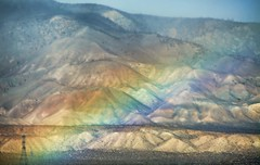 COLLECTING RAINBOWS (Irene2727) Tags: nature colors landscape rainbow desert space mojave mojavedesert enormity
