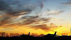 Planes watching the sun set over Braden Airpark (Peachhead (4,000,000 views!)) Tags: sunset silhouette airplane pennsylvania pa sullivantrail lehighvalley nepa forkstownship northamptoncounty pa115 bradenairpark