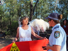 Bronwyn Plarre, Melbourne being arrested by police (climateguardians) Tags: from by evans image jo push pilliaga