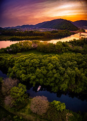 PhoTones Works #7790 (TAKUMA KIMURA) Tags: road japan river landscape scenery natural rivers    okayama kimura    takuma   akaiwa phantom3  dji   photones