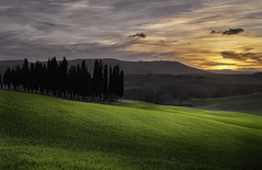 Sunset in Val D'Orcia. (Massetti Fabrizio Offline until May 27) Tags: sunset red italy rural italia tuscany siena pienza toscana valdorcia cambo rodenstock phaseone sanquirico iq180
