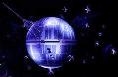 The Death Star under attack! (Shamus O'Reilly) Tags: longexposure sculpture dark fun toy hope starwars model lego windsor deathstar legoland anewhope