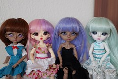 My small Hujoos (SteffiDollies) Tags: family portrait berry group picture plastic bjd abs yomi hujoo