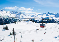 Fake backdrop (JSTAR377) Tags: ski mountains beautiful whistler outdoors bluesky skiresort gondola chairlift lifts whistlerblackcomb peaktopeak skicanada littlethingswhistler