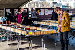 Southbank Book Sales (Neal_T) Tags: uk urban london shop architecture 50mm fuji norfolk streetphotography books southbank norwich fujifilm selling londoncity carboot vintagelens xt1