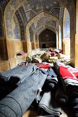 Prayer mats (dan & emily) Tags: islam prayer mosque esfahan shiite imammosque royalmosque masjideshah