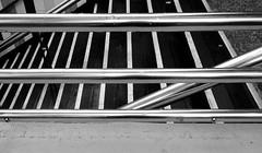 SUBWAY STAIR / ESCALERA DE METRO (jpi-linfatiko) Tags: urban blackandwhite bw blancoynegro lines subway blackwhite stair metro geometry steps bn escalera chrome motorola urbano railing lineas blanconegro geometria cromo xplay baranda xt1563