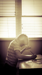 Devoirs & Lecons (J-M Bourque) Tags: family light window homework lessons devoirs