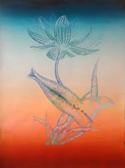 DSC09448 (scott_waterman) Tags: blue ink watercolor painting paper lotus gouache bluehue lotusflower scottwaterman