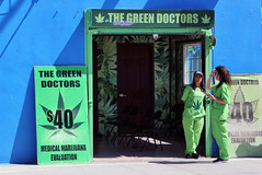"The ""Doctors"" Are In! (Jan Nagalski) Tags: california venice green la losangeles doctor venicebeach southerncalifornia marijuana medicalmarijuana canon60d jannagal greendoctor jannagalski"