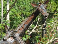 DSCN8477 (Dale_Wiley) Tags: art metal statues giraffe horseshoes