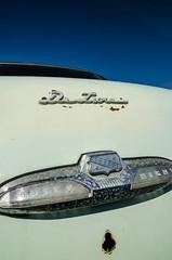 De Luxe Buick Eight (GmanViz) Tags: sky color detail car buick nikon automobile deluxe chrome badge type script 1952 trunklid gmanviz d7000