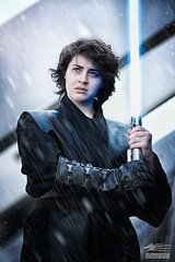 The Traitor (Snowgrimm) Tags: water rain starwars cosplay fantasy rainy future jedi scifi anakin lightsaber futuristic skywalker compositing crossplay