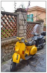 Mopeds ... (junepurkiss) Tags: italy vespa scooter motorbike motorcycle sicily moped taormina