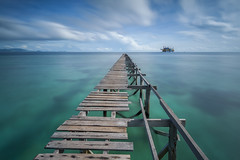 Never Ends .. (zakies) Tags: longexposure travel sea seascape broken water asia jetty floating resort clear malaysia borneo mabul asean oldjetty tawau seagypsies semporna bajaulaut zakiesphotography mohdzakishamsudin zakiesimage neverendingjurney borneolanscape nikond750