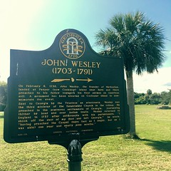 Wesley Historical Marker (peachy92) Tags: usa history film ga georgia square us unitedstates nps unitedstatesofamerica historic chatham civilwar tybee tybeeisland historical helena wesley savannah christianity methodist methodism historicalmarker nationalmonument savannahga unitedmethodistchurch historicmarker iphone johnwesley 025 chathamcounty fortpulaski umc savannahgeorgia 2016 nationalparksservice historicalmarkers tybeeislandga tybeeislandgeorgia historicmarkers cockspurisland ftpulaski civilwarhistory fortpulaskinationalmonument chathamcountygeorgia nps100 ftpulaskinationalmonument iphonegraphy chathamcountyga iphoneography iphone6 instagram instagramapp findyourpark findyourparkinstameet