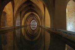 Sevilla, Acazar Real (herbert@plagge) Tags: city castle architecture sevilla spain bath bad andalucia architektur andalusien spanien alcazarreal urbancentre