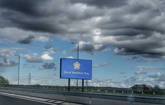 Great Yorkshire Way. (ManOfYorkshire) Tags: road new sign proud motorway m18 yorkshire great route link consultant scheme barriers regeneration rossington finningley farrrs greatyorkshireway