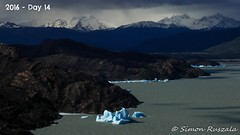 LANDSCAPE_Torres del Paine Peak_Lago Grey (1 of 2) (simon ruszala) Tags: chile blue patagonia lake mountains southamerica dark landscape lago grey nationalpark gloomy land backdrop torresdelpaine iceberg wilderness moodly baron icebergs touching collectionof
