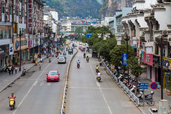 Central Yangshuo (Bridgetony) Tags: china road asia southeastasia yangshuo karst guanxi guiin