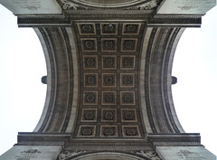 Chalgrin, Arc de Triomphe, looking up