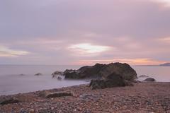 North Beach Arklow (Colin Kavanagh) Tags: longexposure ireland sea sky seascape beach water canon evening rocks wicklow arklow 700d