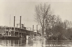 Canal, Steamboats Entering Wisconsin River