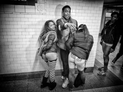 Pantless Sunday 06. (rockerlan) Tags: new york nyc people urban subway square photography photo downtown pants manhattan no union sunday olympus pantless lifestyles em5