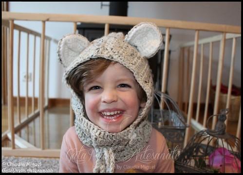 """Gorro para criança """"Teddy Bear"""""""