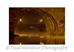 Old Bridge (Hazel M Gardiner) Tags: mist water night river dumfries oldbridge nith