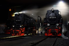 Wernigerode Slumbers (gooey_lewy) Tags: 2 mountain night train germany t shot flood 10 dr shed engine rail railway loco scene class steam 99 german depot locomotive meter lit gauge narrow harz floodlight wernigerode metre hsb 7239 72407 7240 2102t 72399 992324