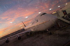 Delta Boeing 747-400, Detroit Airport