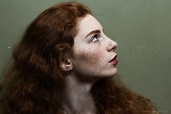 Maria (alexandra_bochkareva) Tags: light red portrait green art abandoned girl beauty look female real ginger eyes exposure place emotion russia sensual muse redhead teenager serene neverland feelings sense girlish