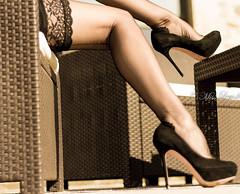 Talons aiguilles (normamisslegs) Tags: woman stockings glamour noir legs femme lingerie heels feets bas couture nylon dentelle lumires talons jambe ftiche escarpins lgante misslegs