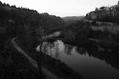 Landscape captured @ Toledo, Spain. (bruno.carnaes) Tags: winter blackandwhite water river spain toledo watermirror oldlandscape madebyhumans createdbyman